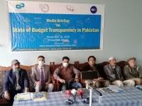 1_Raja-Noabahar-Chairman-and-Mir-Manzar-GS-of-CRG-sitting-along-with-CPDI-budget-coordinator-Faisal-Munir-paying-attention-to-journalist-queries