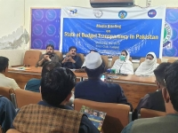 President-Press-club-district-Haripur-sharing-his-views-on-the-budget-transparency-report
