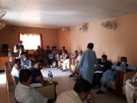 Journalists-raising-question-during-Media-Briefing-on-State-of-Budget-Transparency-in-Pakistan-Report-2020-at-at-Press-Club-Kamber-–-Shahdadkot