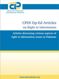 CPDI OP-Ed Articles on Right to Information