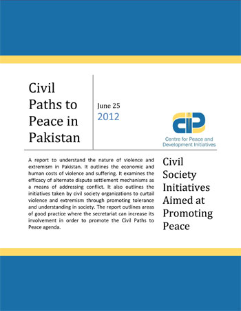 Civil Paths to Peace in Pakistan