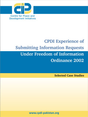 CPDI Experience of Submitting Information Requests Under Freedom of Information Ordinance 2002