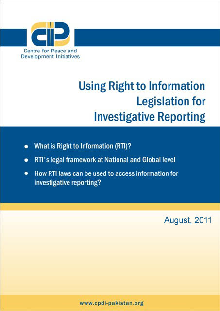 Using Right to Information Legislation for Investigative Reporting