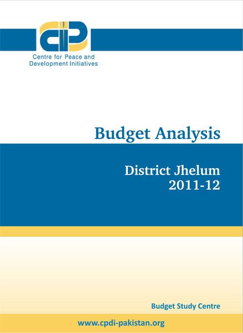 Budget Analysis(District Jehlum 2011-2012)