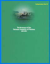 Parliamentary Alert III Performance of the National Assembly of Pakistan (2004-05)