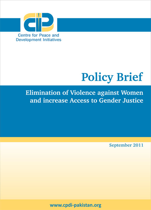 Elimination of Violence against Women and increase Access to Gender Justice
