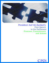 President Asif Ali Zardari's First Speech to the Parliament Promises, Commitments and Actions