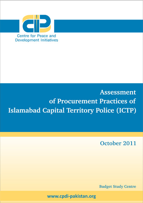 Assessment of Procurement Practices of Islamabad Capital Territory (ICTP)