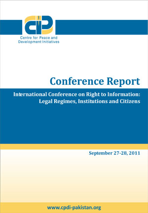International Conference on Right to Information: Legal Regimes, Institutions and Citizens(Report))