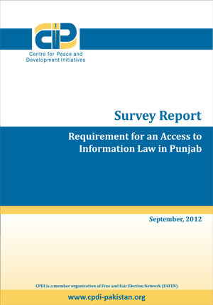 Requirement for an Access to Information Law in Punjab