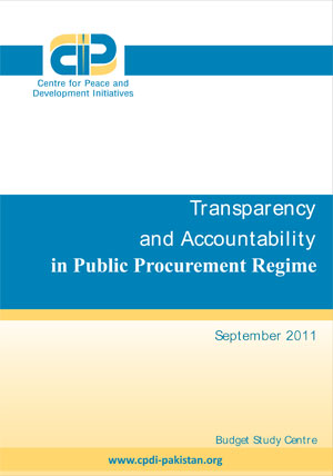 Transparency and Accountability in Public Procurement Regime