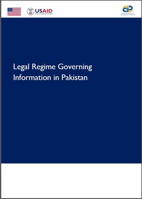Legal Regime Governing Information in Pakistan