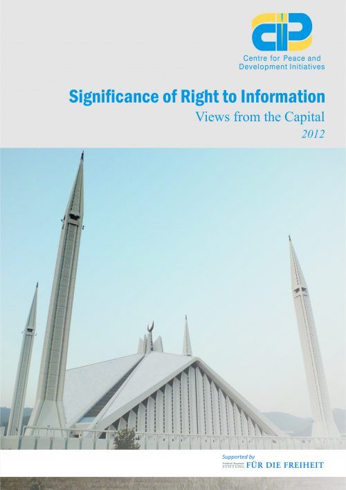Significance of Right to Information-Views from the Capital