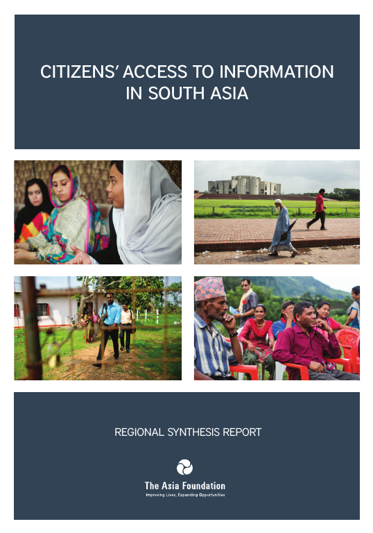 Citizens Access to Information in South Asia