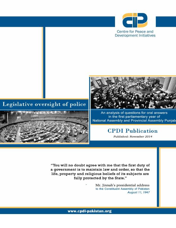 Legislative Oversight of Police