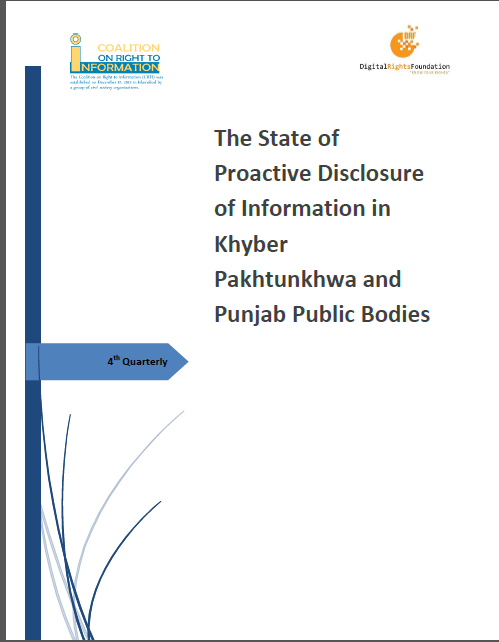The State of Proactive Disclosure of Information in Khyber Pakhtunkhwa and Punjab Public Bodies