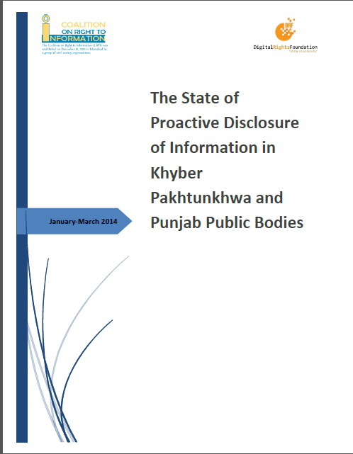 The State of Proactive Disclosure of Information in Khyber Pakhtunkhwa and Punjab Public Bodies(1st Quarterly Report)