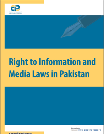 Right to Information and Media Laws in Pakistan