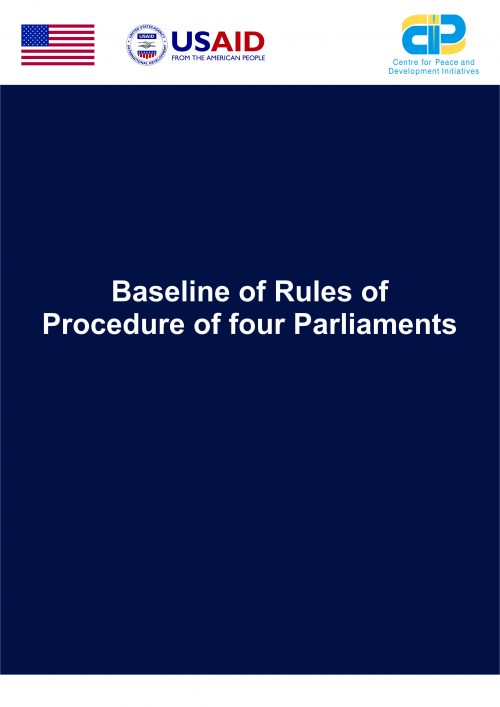 Baseline of Rules of Procedures of Four Parliaments