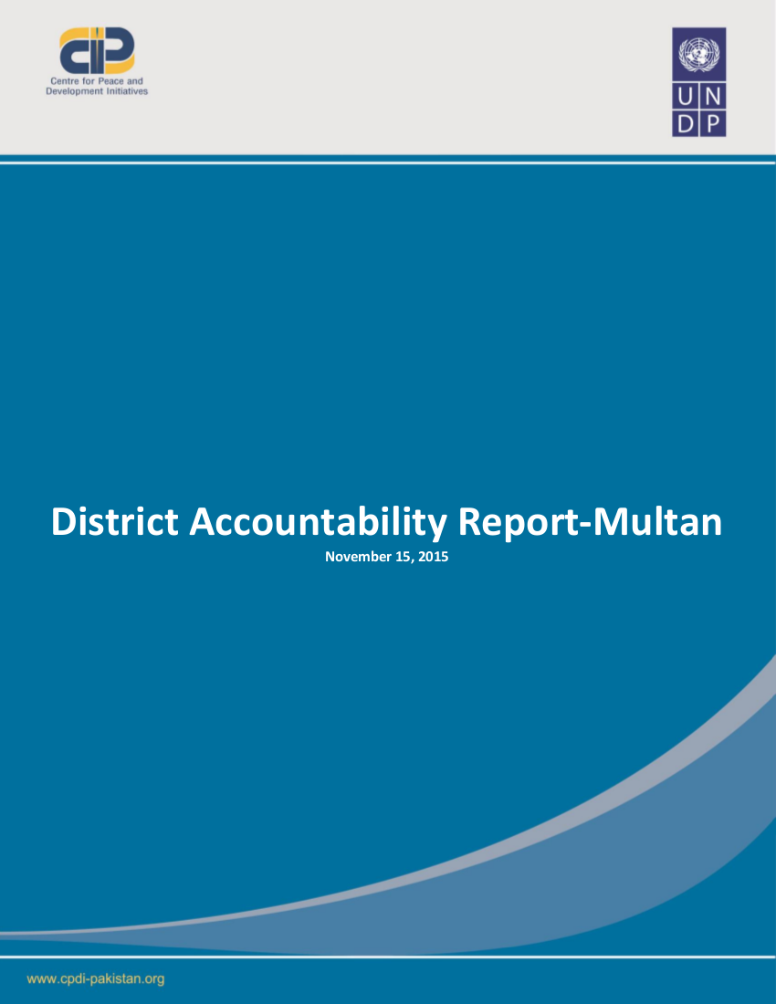 District Accountability Report-Multan