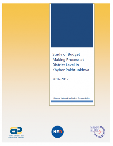 The Study of Budget Making Process at District Level in KP - 2016-17