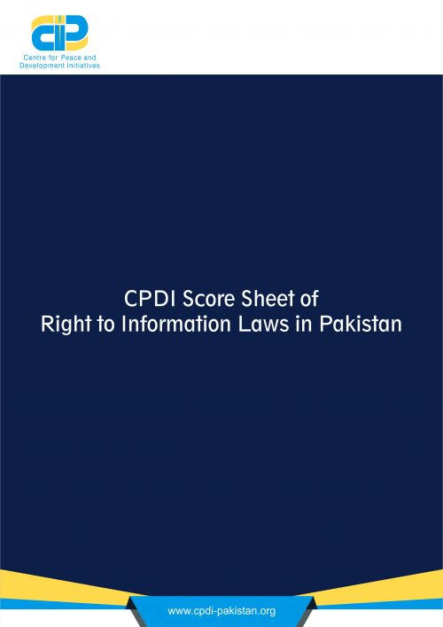 CPDI Score Sheet of Right to Information Laws in Pakistan