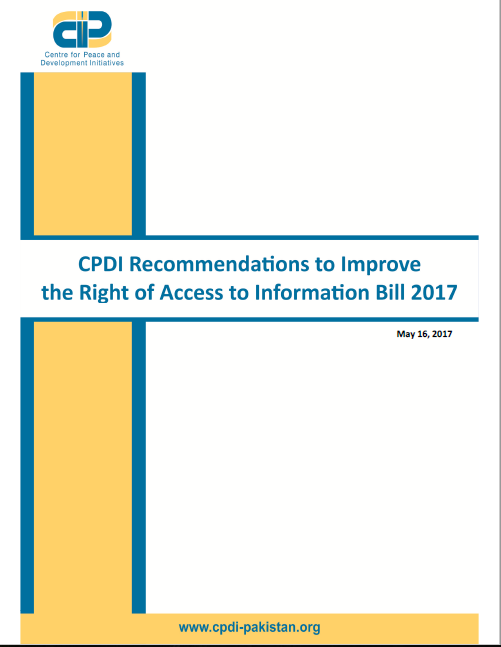 CPDI Recommendations to Improve the Right of Access to Information Bill 2017