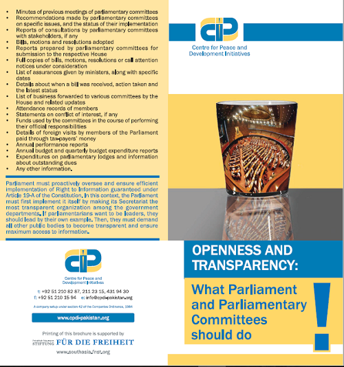 Openness and Transparency, What Parliament & Parliamentary Committees should do (English Ver.)