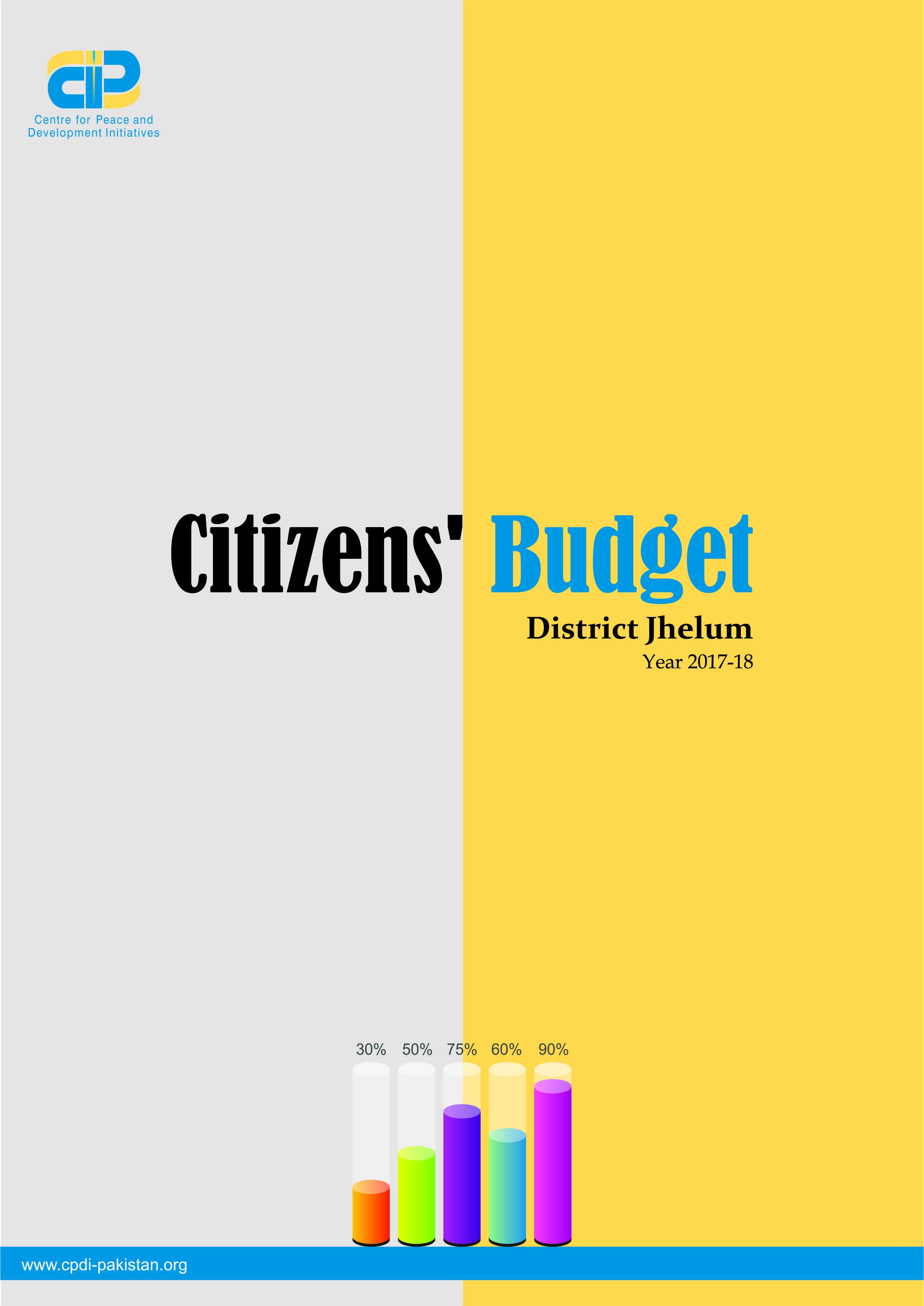 Citizens' Budget District Jhelum Year 2017-18
