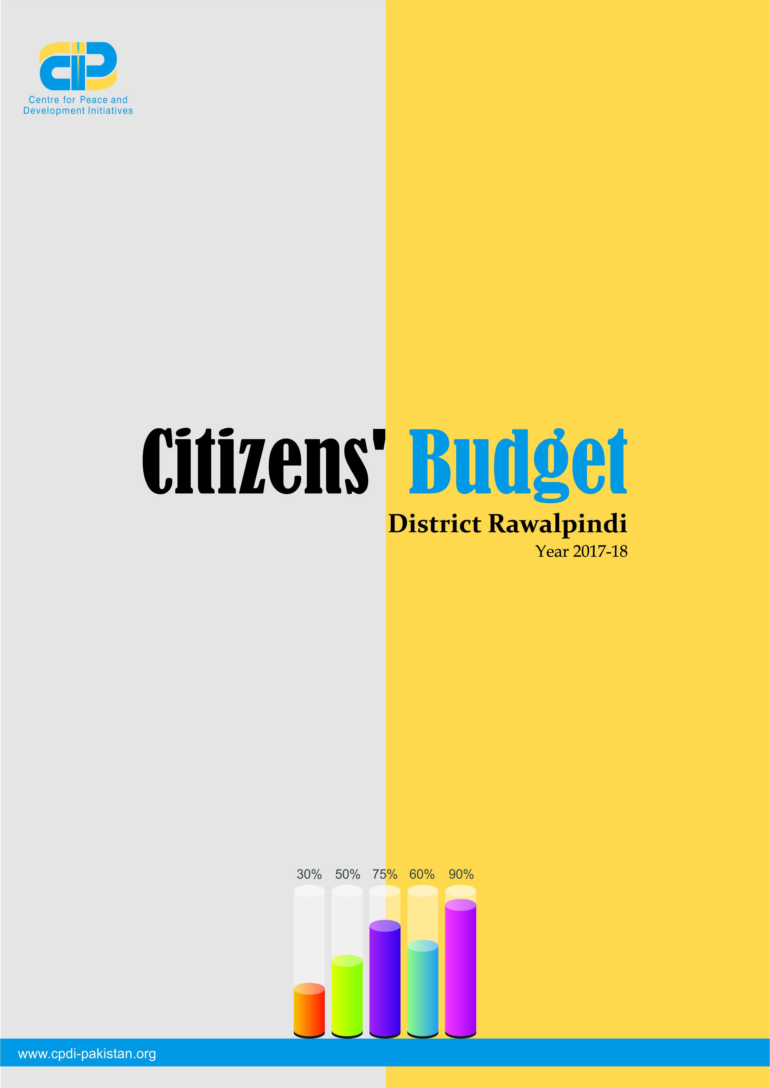 Citizens' Budget District Rawalpindi Year 2017-18