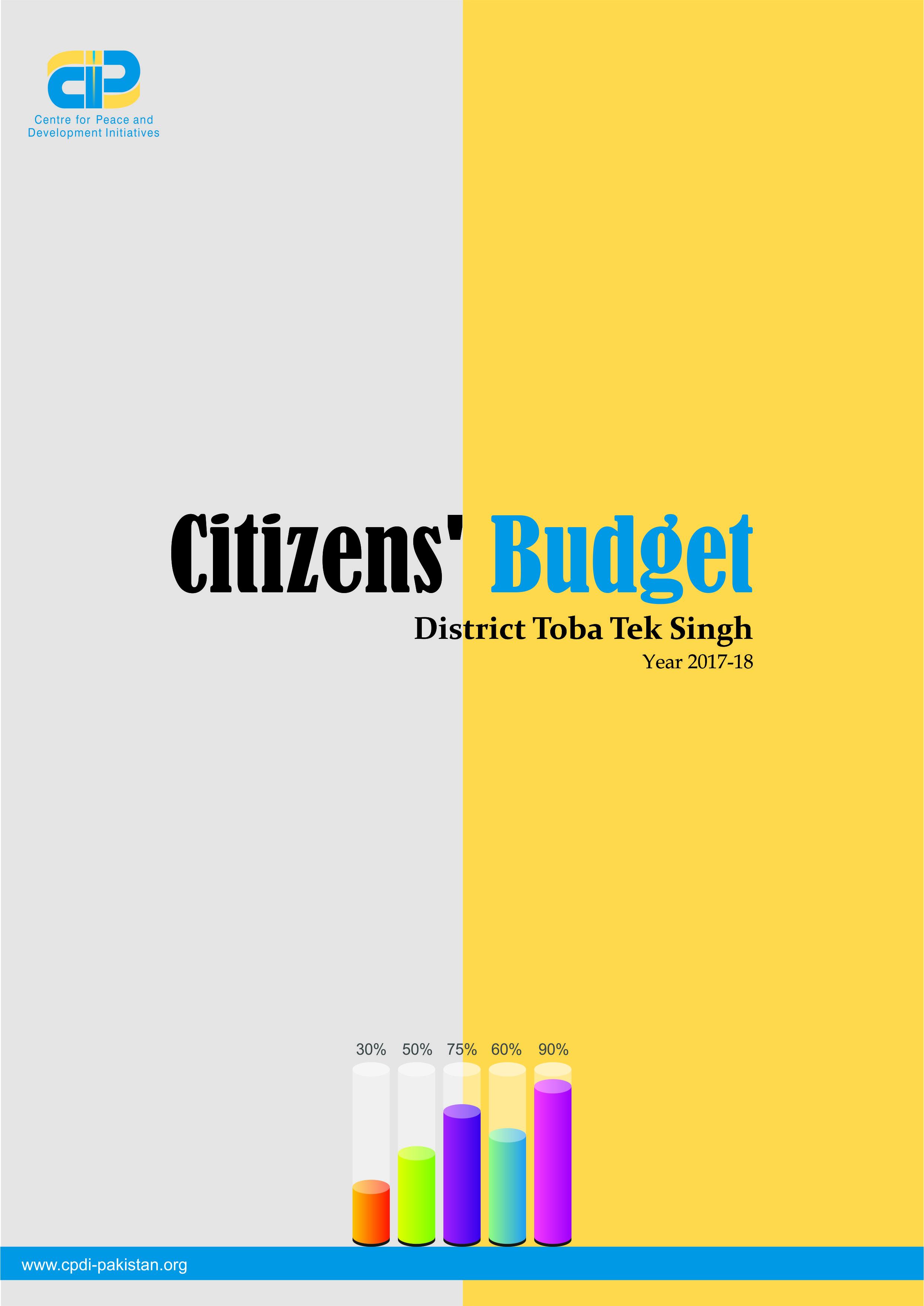 Citizens' Budget District Toba Tek Singh Year 2017-18