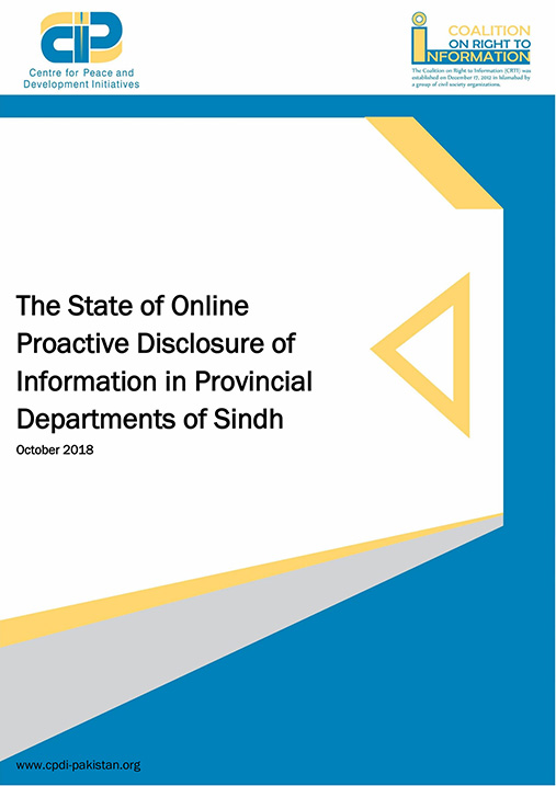 State of Online Proactive Disclosure of Information in Sindh