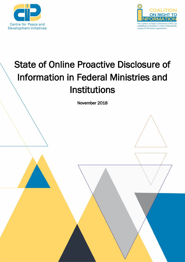 State of Online Proactive Disclosure of Information in Federal Ministries and Institutions