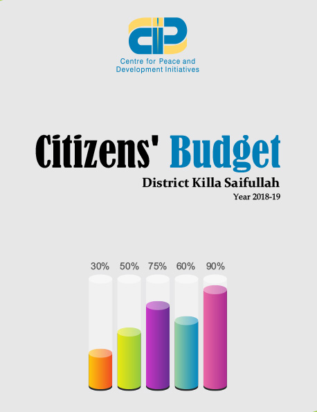 Citizens' Budget Killa Saifullah 2018-19