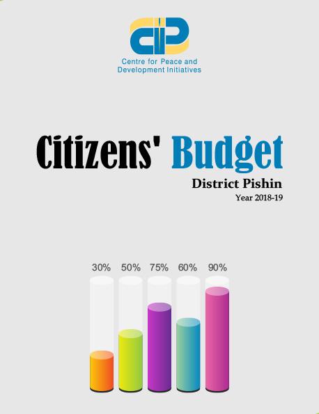 Citizens' Budget Pishin 2018-19