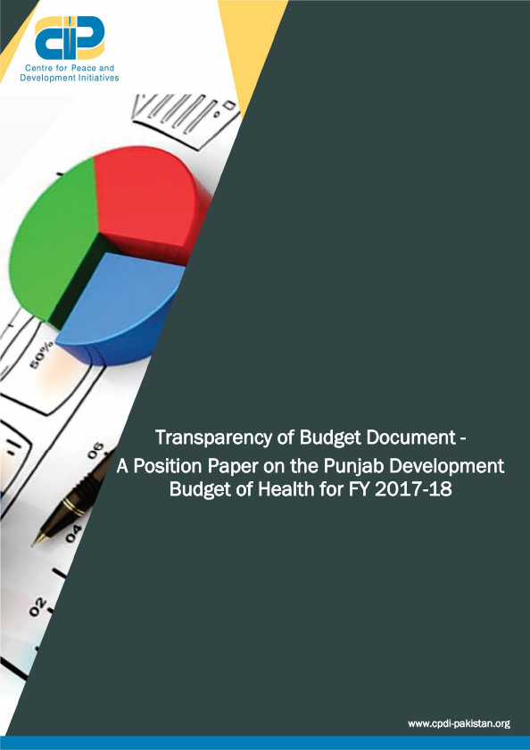 Transparency of Budget Document A Position Paper