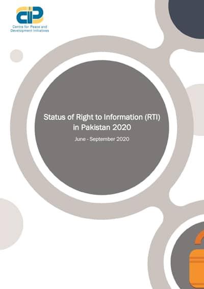 Status of RTI in Pakistan 2020 - June - Sep