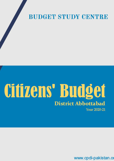 Citizens Budget District Abbotabad - 2020-21