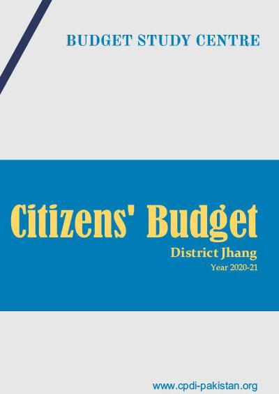 Citizens Budget District Jhang - 2020-21