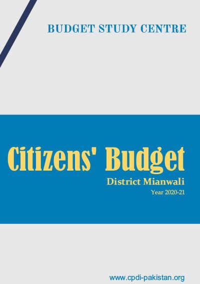 Citizens Budget District Mianwali - 2020-21