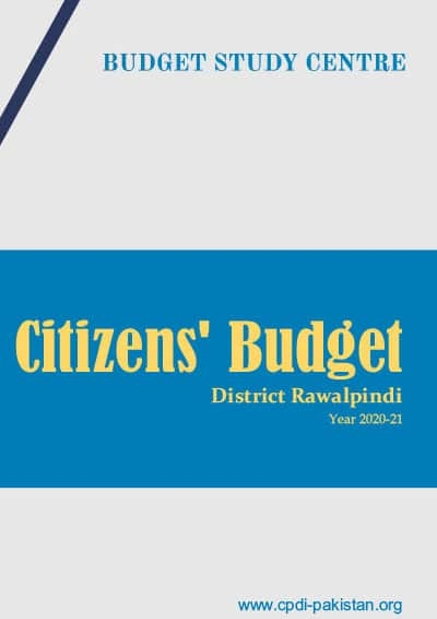 Citizens Budget District Rawalpindi - 2020-21