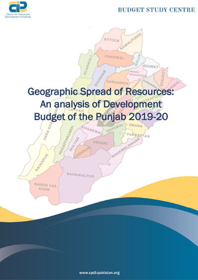 Geographic Spread of Resources: An analysis of Development Budget of the Punjab 2019-20